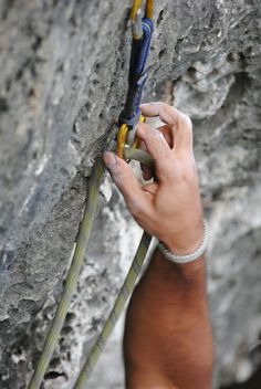 Climbing a rock face is not unlike climbing life. A hand and foot at a time.