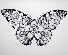 Butterfly tattoo, flower tattoos, cute tattoos, new tattoos, makeup tattoos Lace Butterfly Tattoo, Butterfly Drawing, Butterfly Tattoo Designs, Flower Tattoos, Butterfly Watercolor, Makeup Tattoos, Body Art Tattoos, New Tattoos, Cool Tattoos