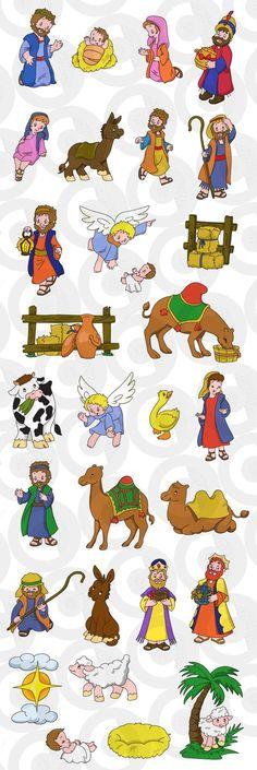 Clipartopolis.com - Digitizer's Heaven Christmas Nativity, A Christmas Story, Christmas Art, Christmas Scenes, Christmas Activities For Kids, Christmas Printables, Nativity Clipart, Idees Cate, Art For Kids
