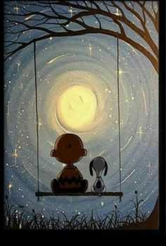 Charlie Brown and Snoopy under the moon. - Gema - Charlie Brown and Snoopy under the moon. Charlie Brown and Snoopy under the moon. Peanuts Snoopy, Snoopy Et Woodstock, Peanuts Cartoon, Charlie Brown Et Snoopy, Charlie Brown Quotes, Snoopy Pictures, Funny Pictures, Snoopy Wallpaper, Snoopy Quotes