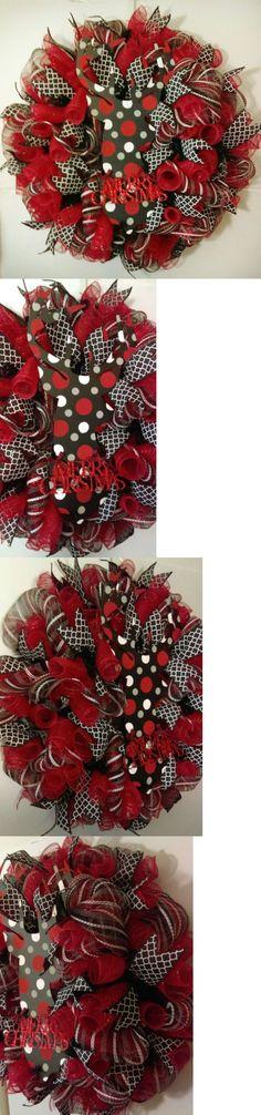 Wreaths 16498: Polka Dot Reindeer Christmas Deco Mesh Wreath -> BUY IT NOW ONLY: $65 on eBay!