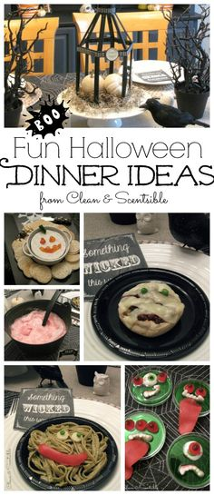 Create a fun Halloween dinner with these easy to make dinner ideas. // cleanandscentsible.com