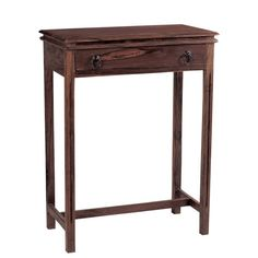 CONSOLE ΚΟΝΣΟΛΑ 1 ΣΥΡΤΑΡΙ / ΞΥΛΟ SHEESHAM ΚΑΡΥΔΙ 60x34x80cm Nightstand, Entryway Tables, Console, Wood, Furniture, Home Decor, Cross Stitch, Embroidery, Products