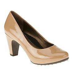 "Easy Spirit ""Parnella"" Pumps in Nude Patent"