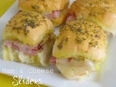 ham and cheese sliders - here you go madre