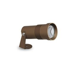 MICRO OUTDOOR LED SPOTLIGHT IN A BROWN FINISH