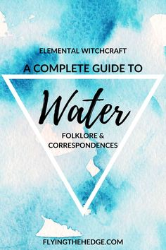 Water, the element of emotions, healing, purification, and renewal. It is the perfect element to work with during the winter months because it is during winter that we spend time reflecting and settin Wiccan, Magick, Witchcraft, Folklore, Water Witch, Sea Witch, Water Spells, Mermaid Purse, Water Element