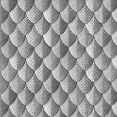 fabric, upholstery, patterns, quilting fabric, wrapping paper - Feather Leaf Armor Silver fabric by wickedrefined on Spoonflower
