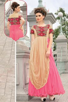 #WomenClothing   Marvelous Evening Party Wear Designer Gown With #EmbroideredGowns Work Just Only RS. 2575