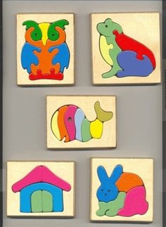 figuurzaagpuzzel Easy Woodworking Projects, Wood Projects, Wooden Crafts, Diy And Crafts, Baby Toys, Kids Toys, Scroll Saw Patterns Free, Wooden Jigsaw Puzzles, Wood Animal