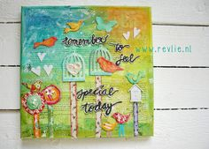ON SALE Online Class: how to create a lovely mixed media door Revlie