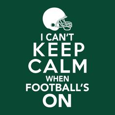 This funny football fan t-shirt is perfect for super fans who can't keep calm when football's on. It makes the perfect game day t-shirt or gift for football fan to support their favorite football team Más Gifts For Football Fans, Football Baby, Cowboys Football, Football Season, Football Team, College Football, Alabama Football, Dallas Cowboys, Football Decor
