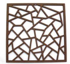 Escultura 3 Quadrada 400x400 MDF 6 cru |