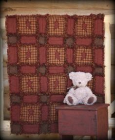 Baby rag quilt by theraggedyquiltshop on Etsy, $95.00