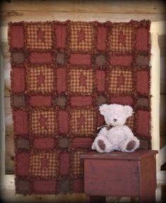 Cute rag quilt!