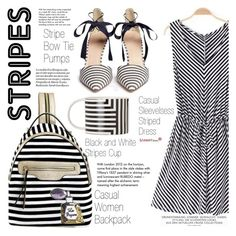 """Stripes Domination"" by vanjazivadinovic ❤ liked on Polyvore featuring J.Crew, Tiffany & Co., stripes, sammydress and polyvoreeditorial"