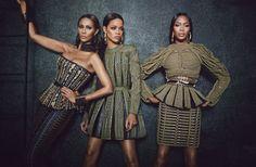 Naomi Campbell, Iman, Rihanna & Olivier Rousteing for W Magazine September 2014