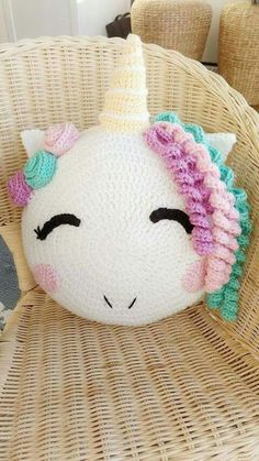 Unicorn/ unicorn gift/ crochet pattern/ unicorn pattern/ knit unicorn/ unicorn room decor/ stuffed unicorn/ pillow pattern/ knit pillow – Knitting patterns, knitting designs, knitting for beginners. Crochet Home, Crochet Gifts, Cute Crochet, Crochet For Kids, Crochet Stars, Easy Crochet, Unicorn Room Decor, Unicorn Rooms, Unicorn Gifts