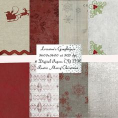 Rustic Merry Christmas:  A Christmas by LorrainesGraphiques