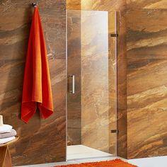 "Vigo SoHo 71"" x 31"" Adjustable Frameless Shower Door with Clear Glass | Wayfair"