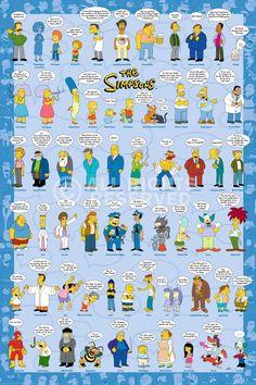 Poster Simpsons Sprüche