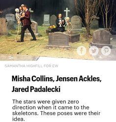 Misha Collins, Jensen Ackles, and Jared Padalecki Castiel, Supernatural Actors, Supernatural Tattoo, Supernatural Bloopers, Supernatural Imagines, Supernatural Wallpaper, Sam Winchester, Jensen Ackles, Humor