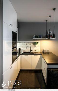 Kuchnia styl Skandynawski - zdjęcie od AS-MEB producent… na Stylowi. Home Decor Kitchen, Kitchen Interior, New Kitchen, Home Kitchens, Kitchen Cook, Kitchen Dining, High Gloss White Kitchen, Industrial Kitchen Design, Lofts