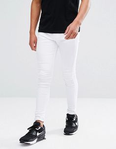Brooklyn Supply Co Muscle Fit Jean Off White - White