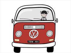 Sofi's VW van Art Print