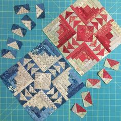 Tonight's accomplishments include one block for each of quilt and most of the geese made. end of day mini mini retreat Log Cabin Quilt Pattern, Log Cabin Quilts, Barn Quilts, Log Cabins, Log Cabin Patchwork, Rustic Cabins, Cute Quilts, Small Quilts, Mini Quilts
