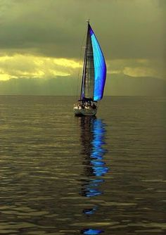 Sailing -  Colors:  Yellow, Olive Green, Blue
