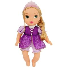 Amazon.com: My First Disney Princess Deluxe Baby Rapunzel Doll: Toys & Games
