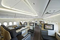 Lufthansa 747-8I (Business Interior) Now this is what I'm talking about!