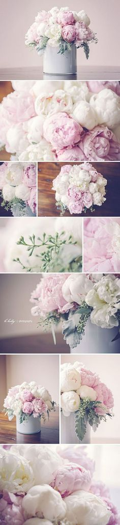 pink and white peonies chilean peony bouquet by Modern Day Floral, grand rapids michigan My Flower, Flower Power, Beautiful Flowers, Beautiful Bouquets, Peony Flower, Deco Floral, Arte Floral, Wedding Bouquets, Wedding Flowers