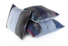 Shirt & Tie cushions by Barley Massey. Best dressed cushions in town! Available at http://www.fabrications1.co.uk