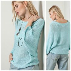 Ice Blue Spring Sweater. LOVE!