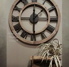 Mirror Wall Clock, Style Noir, Rustic Wall Clocks, Industrial House, Modern Kitchen Design, Vintage Walls, Own Home, Home And Living, Furniture Decor