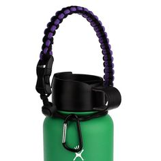 Hydro Flask Handle Flaskars Paracord Carrier Survival Strap Cord with Safety Ring and Carabiner for Hydro Flask Nalgene CamelBak Wide Mouth Water Bottles (PurpleBlack) : Sports & Outdoors  http://amzn.to/2abc8Yt #hydroflask