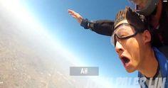 "Birthday boy's ""friends"" trick him into a skydive"