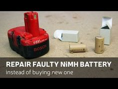 DIY Battery Reconditioning - Battery Reconditioning - How to Replace Dead Battery Pack Cells Cordless Drill Batteries, Ryobi Battery, Rv Battery, Cordless Tools, Lead Acid Battery, 18650 Battery, Battery Hacks, Nimh Battery Charger, Battery Shop
