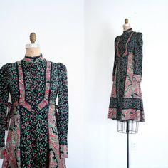 vintage floral patchwork dress / Rosebuds & Calico  by AgeofMint, $38.72