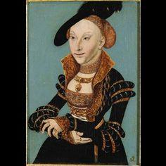 Sibylle of Cleve, Duchess of Saxony (1512-1554) about 1535. Workshop Lucas Cranach the Elder. Kunstsammlungen der Veste Coburg