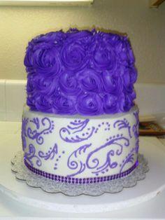 rose swirl cake..