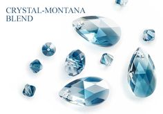 Autumn/Winter 2014/15 Innovations Pre-launch - new color, Crystal -Montana Blend. Gorgeous, ice-blue hues that would go great with silver findings