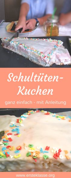 Cake for school enrollment and back to school - Schule - Kuchen Baking Recipes, Cake Recipes, School Enrollment, Maila, Eat Pray Love, Baking With Kids, Food Humor, Diy Food, Black Forest Cake