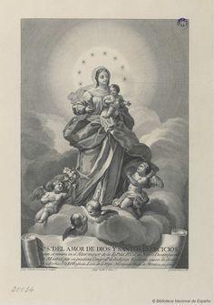 [Nuestra Señora del Amor de Dios]. Selma, Fernando 1752-1810 — Grabado — 1786
