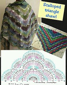 Shawl from the remnants of yarn.