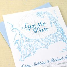Cape Cod Save the Date - Light Blue - by Concertina Press