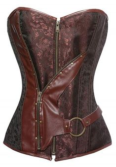 Gothique Corset Top Rétro Cosplay Partie Robe Sexy Pirate Fille Costume Steampunk Overbust Bustier Burlesque Corset Vê Costume Steampunk, Steampunk Corset, Gothic Corset, Sexy Corset, Overbust Corset, Corset Tops, Steampunk Clothing, Corset En Cuir, Leather Corset