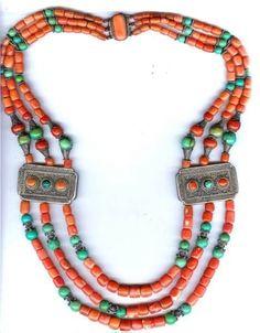 mongol necklace in 19th centuries,鄂尔多斯地区